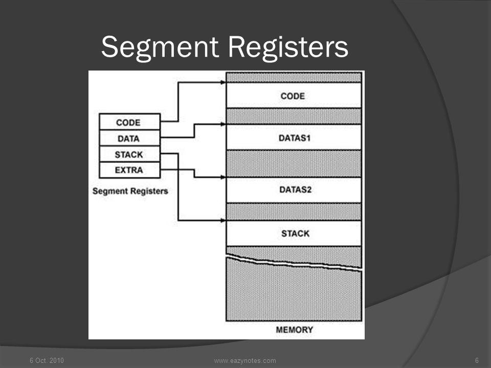 Segment Registers 6 Oct. 20106www.eazynotes.com