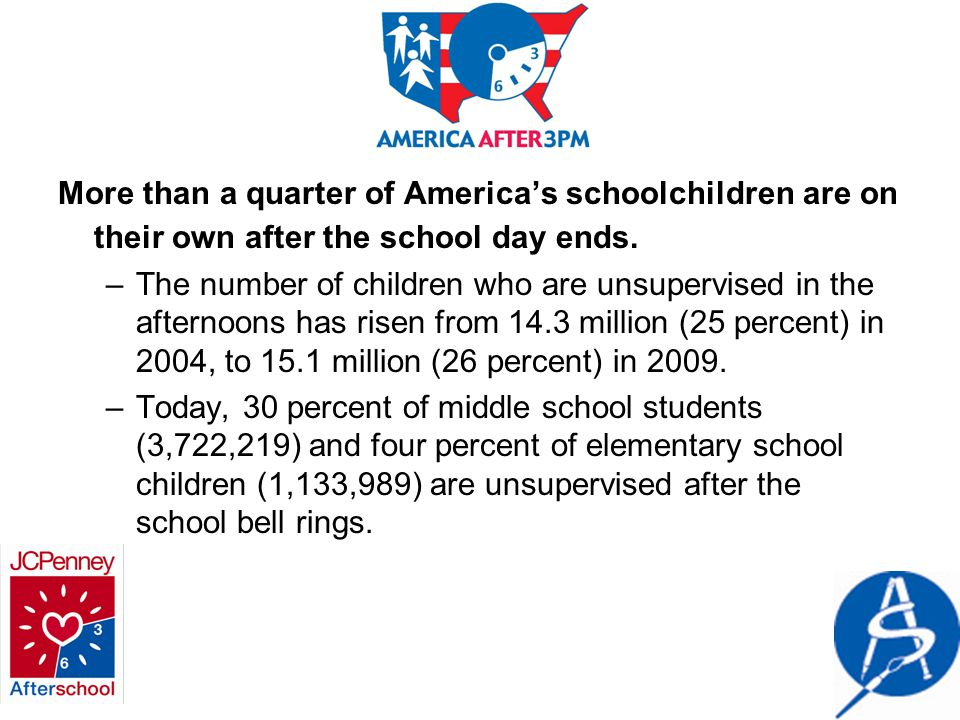 More than a quarter of America's schoolchildren are on their own after the school day ends.