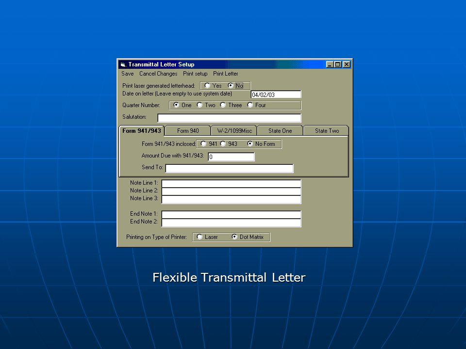 Flexible Transmittal Letter