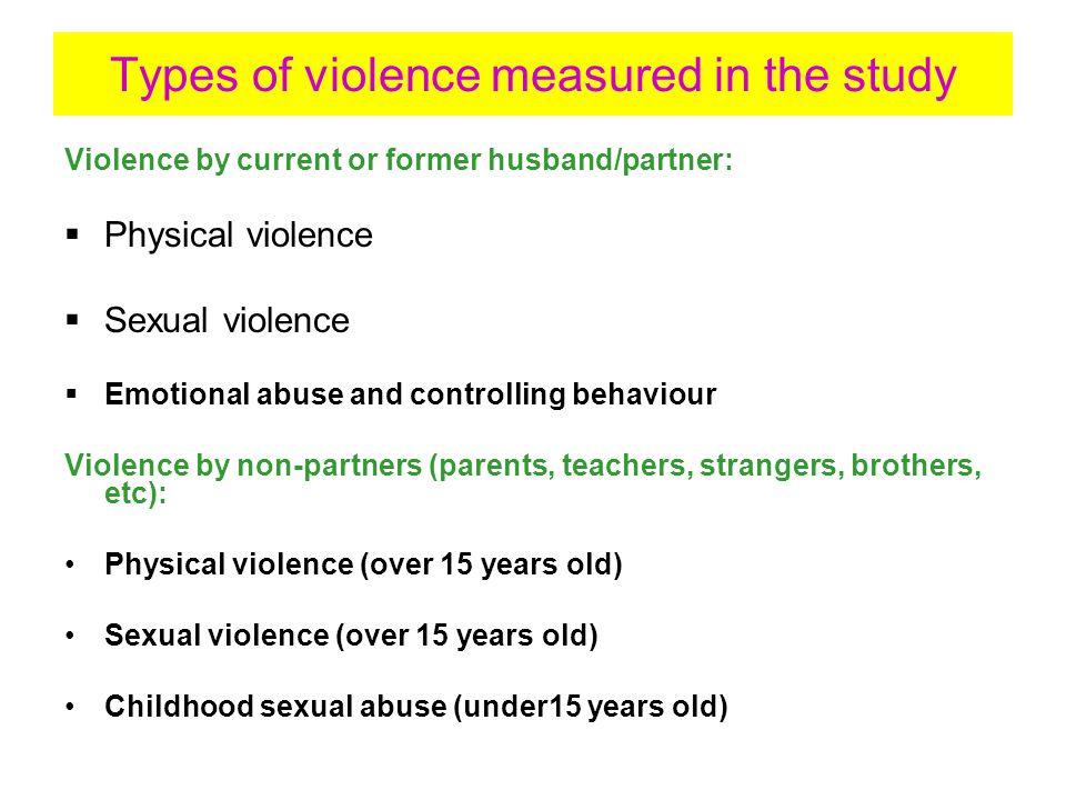 Results: violence by husband/partner