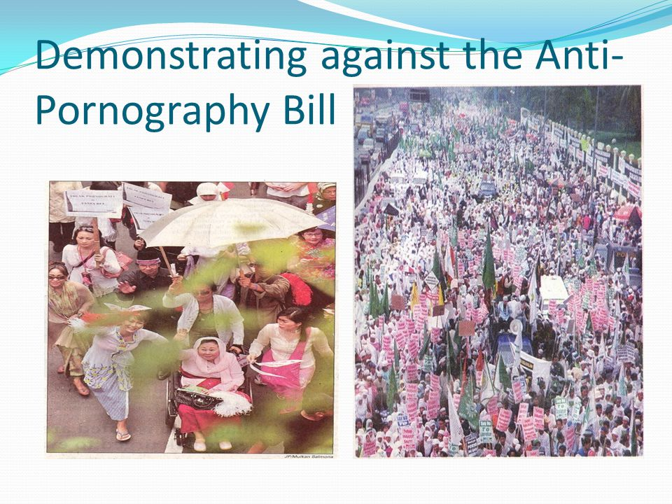 Demonstrating against the Anti- Pornography Bill