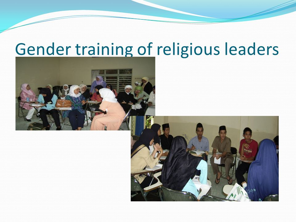 Gender training of religious leaders