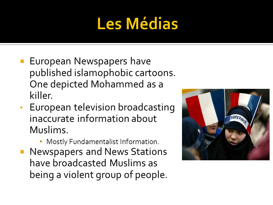  European Newspapers have published islamophobic cartoons.
