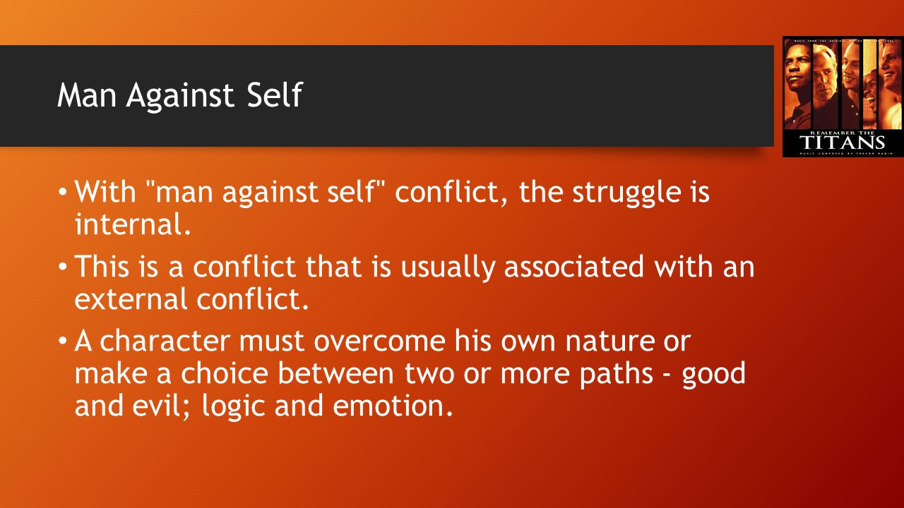Man Against Self With