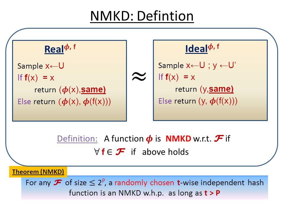 NMKD: Defintion Theorem (NMKD)