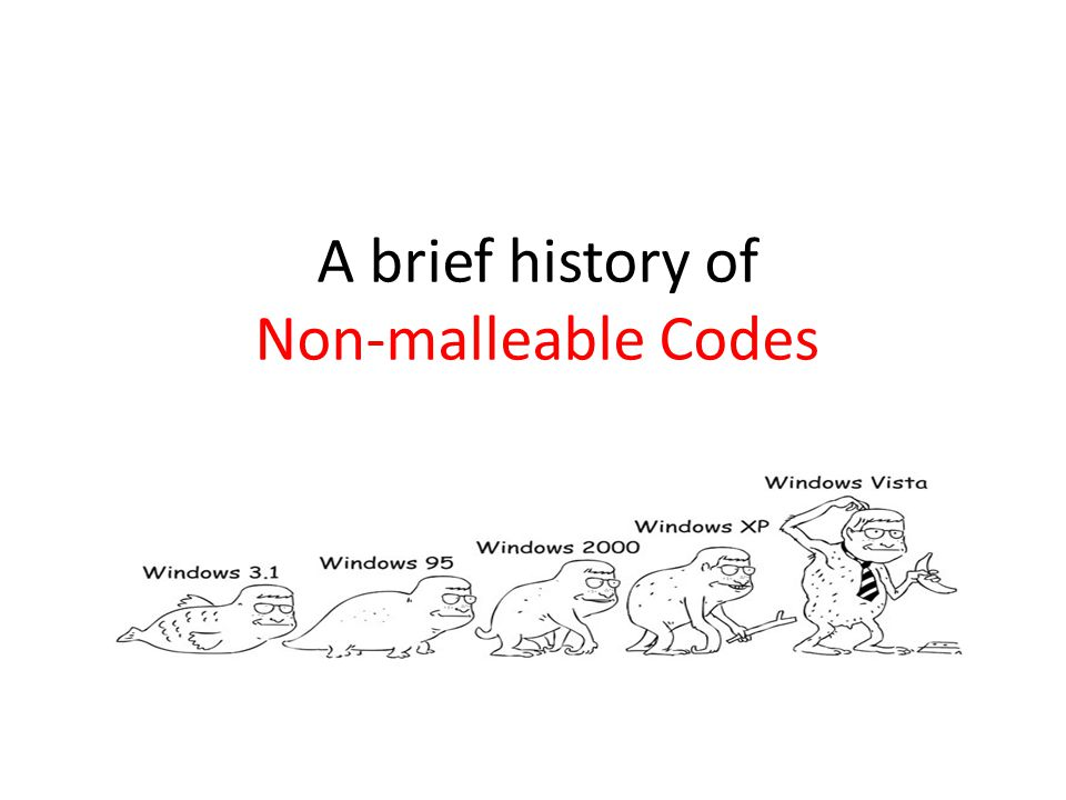 A brief history of Non-malleable Codes