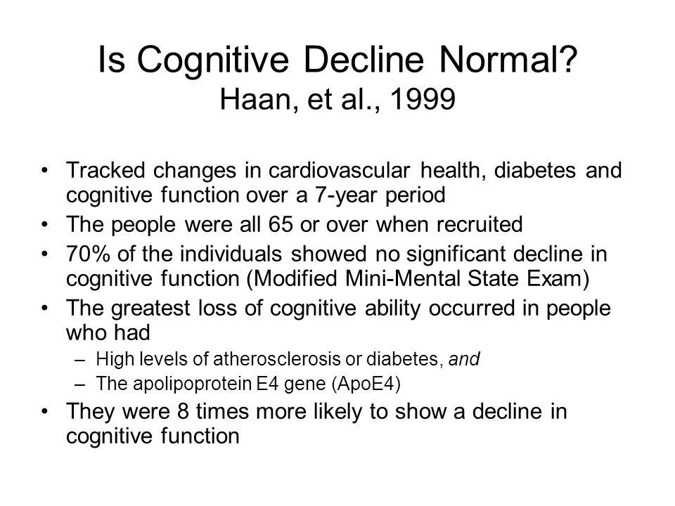 Is Cognitive Decline Normal.