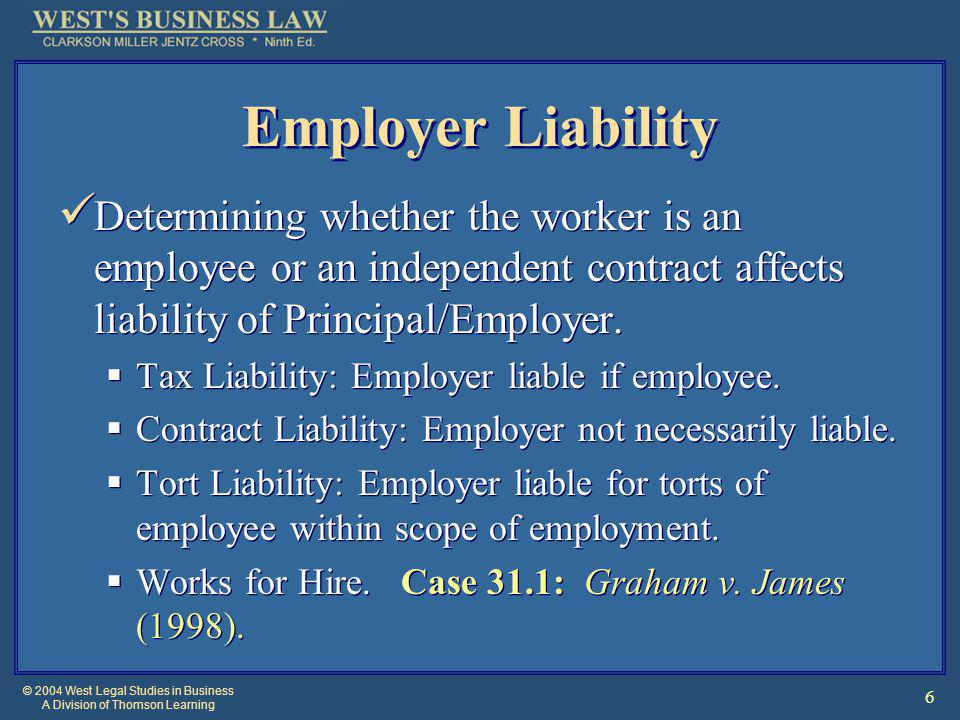 © 2004 West Legal Studies in Business A Division of Thomson Learning 17 Law on the Web Agency at Cornell U.
