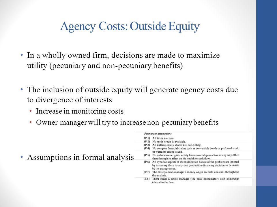 Outside Equity: Scenario