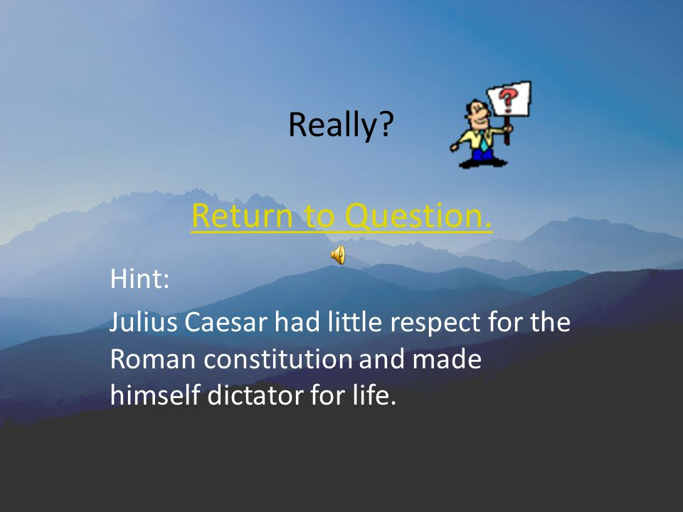 What effect did Julius Caesar's seizure of power have on the Roman political system.