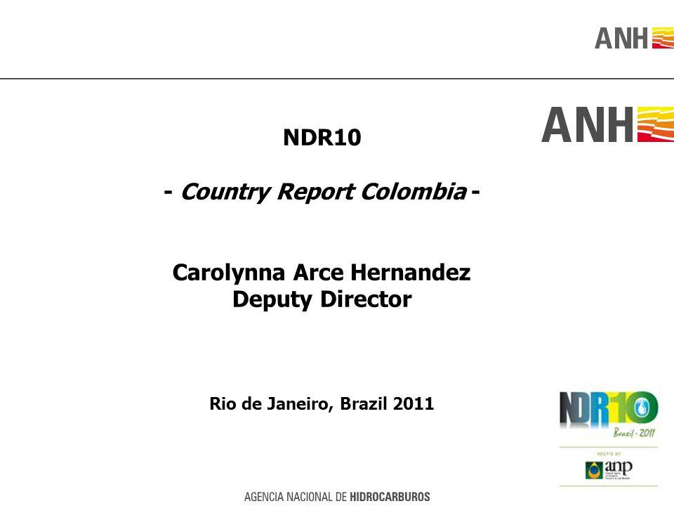 NDR10 - Country Report Colombia - Carolynna Arce Hernandez Deputy Director Rio de Janeiro, Brazil 2011