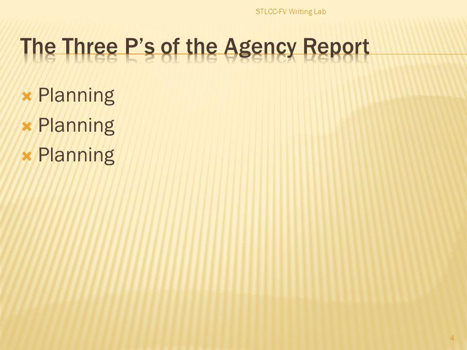  Planning 4 STLCC-FV Writing Lab
