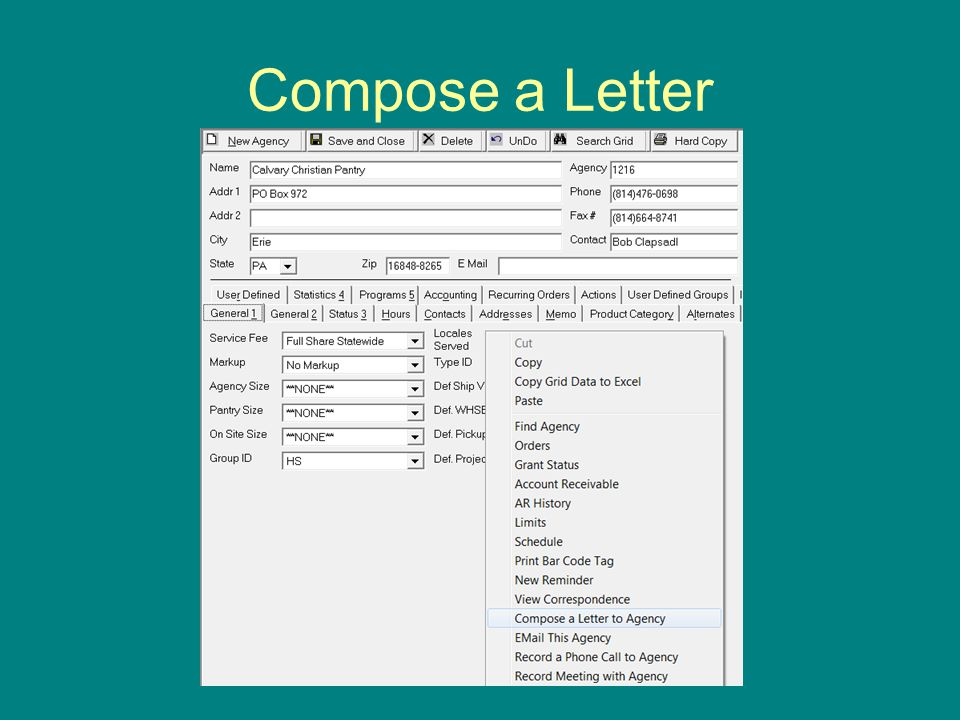 Compose a Letter