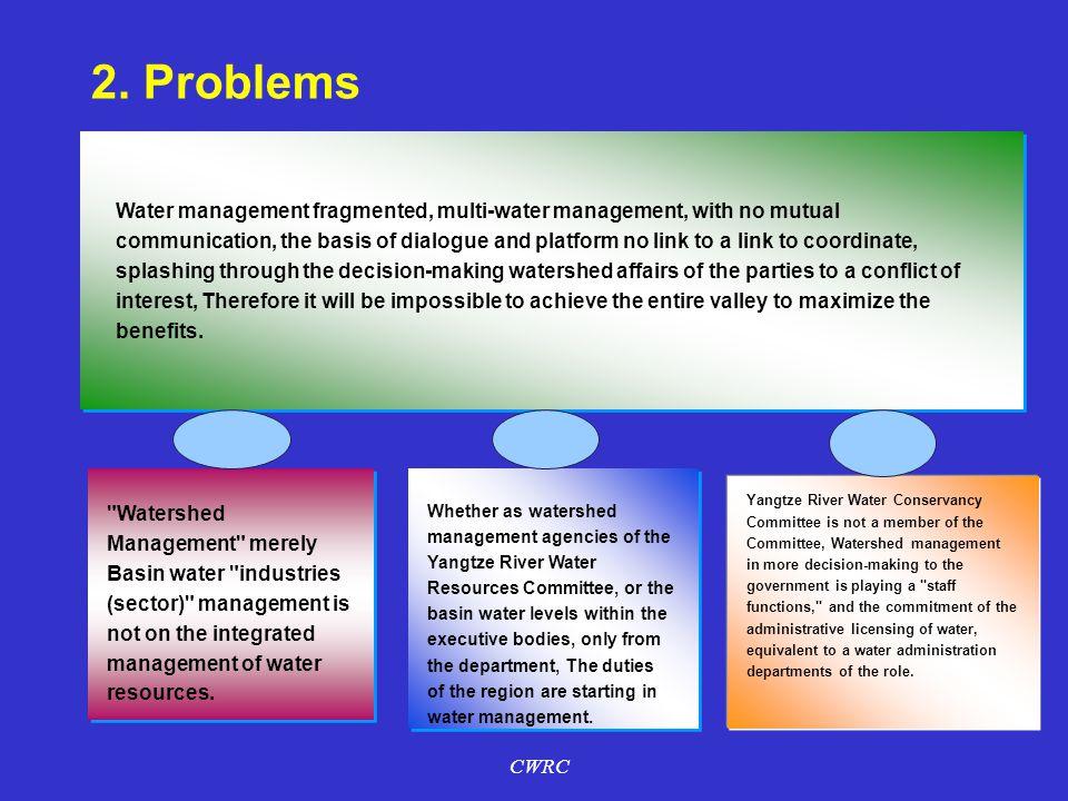 流域内众多地区涉水部门、行业和用水户,虽因水而相关 2.