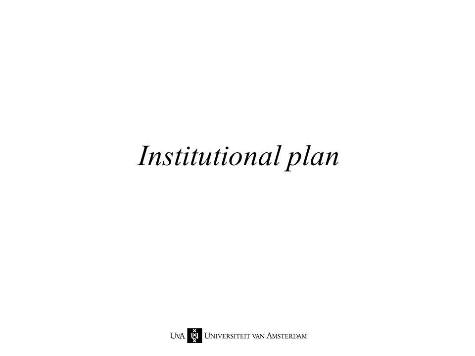 Institutional plan