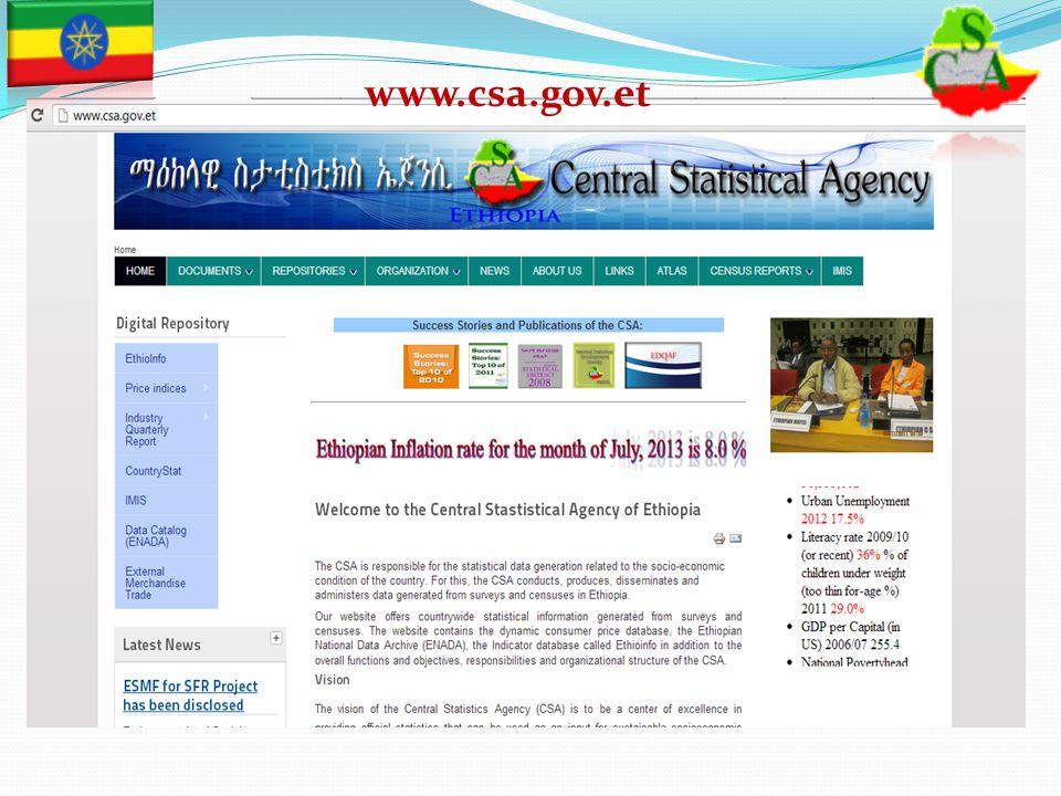 CSA Main Website www.csa.gov.et