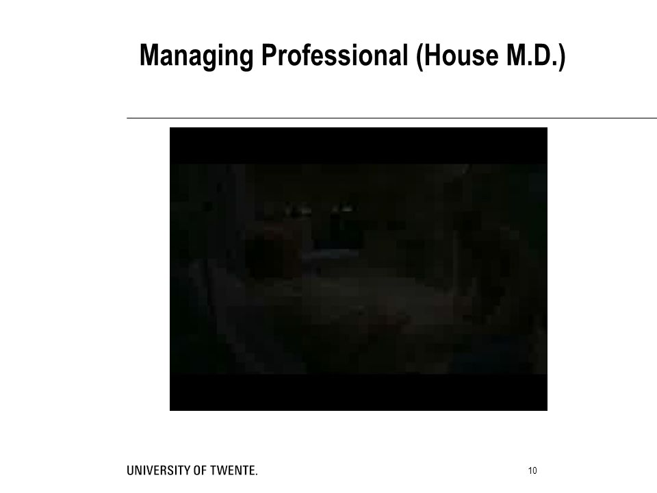 10 Managing Professional (House M.D.)