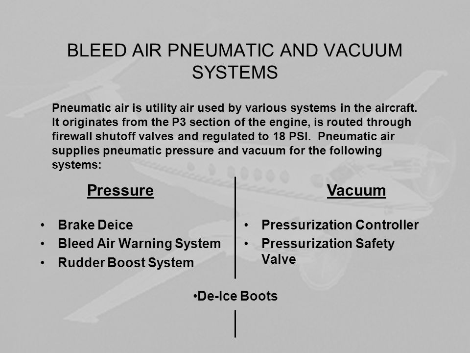 PRESSURIZATION REQT'S To have a pressurization system we must have an air source to increase the pressure inside the pressure vessel, a means to regulate the pressure, and an emergency relief system.