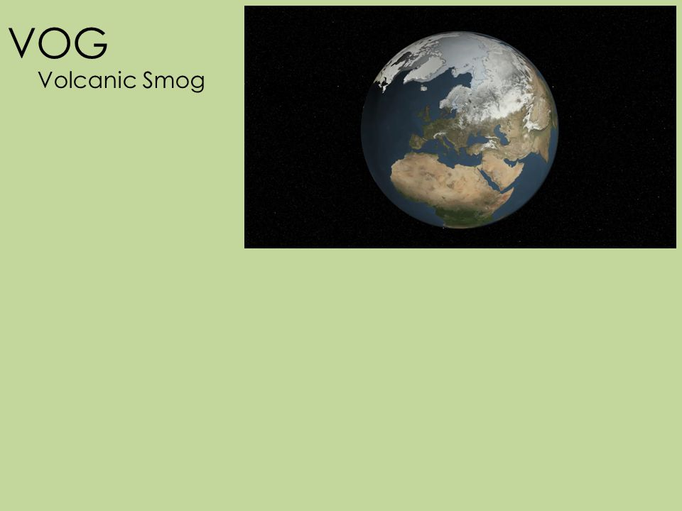 VOG Volcanic Smog