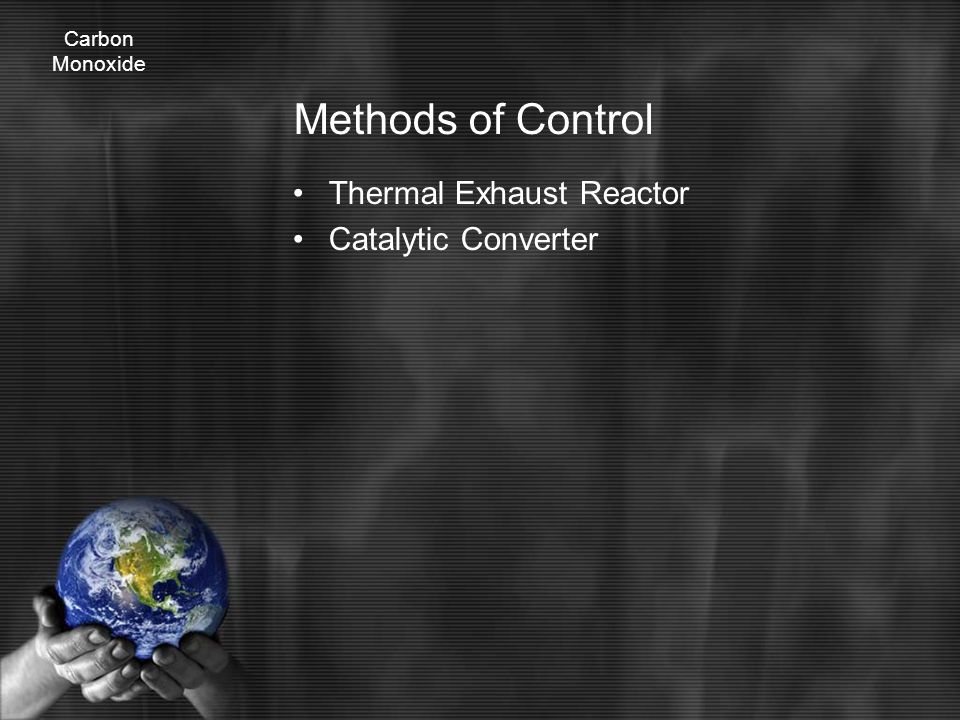 Methods of Control Thermal Exhaust Reactor Catalytic Converter Carbon Monoxide