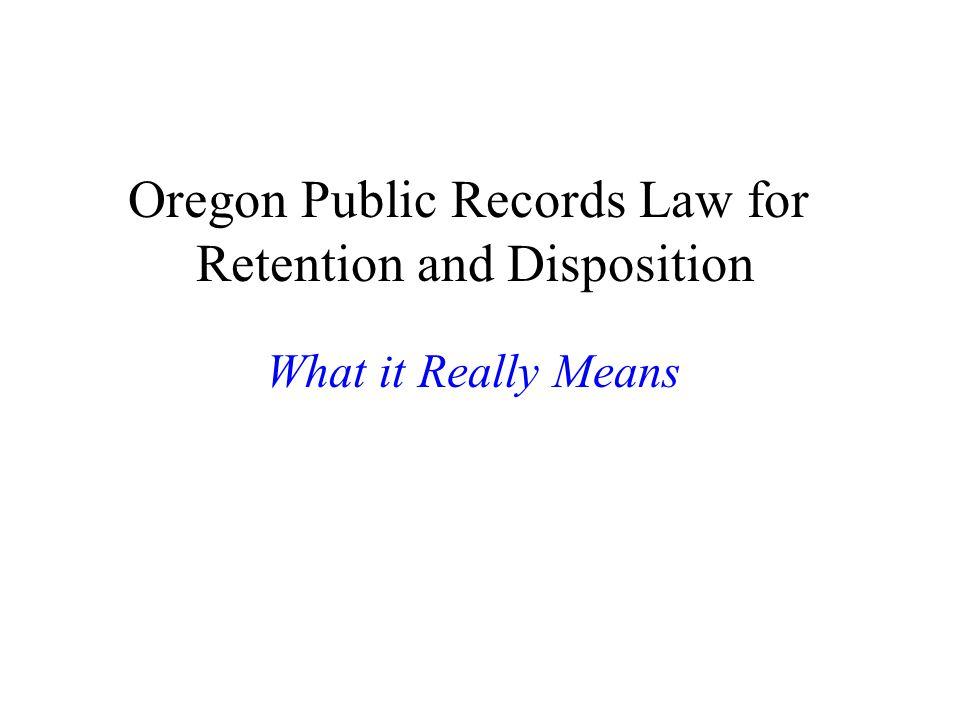 Public Records Examples