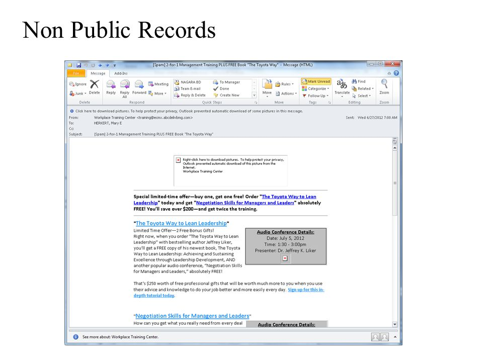 Non Public Records