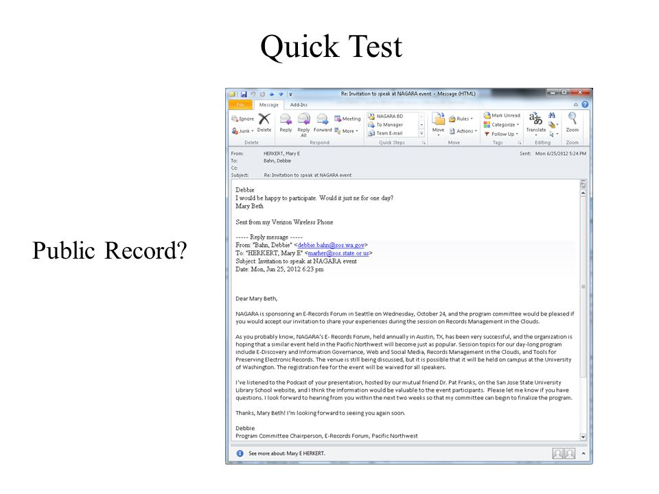 Quick Test Public Record?