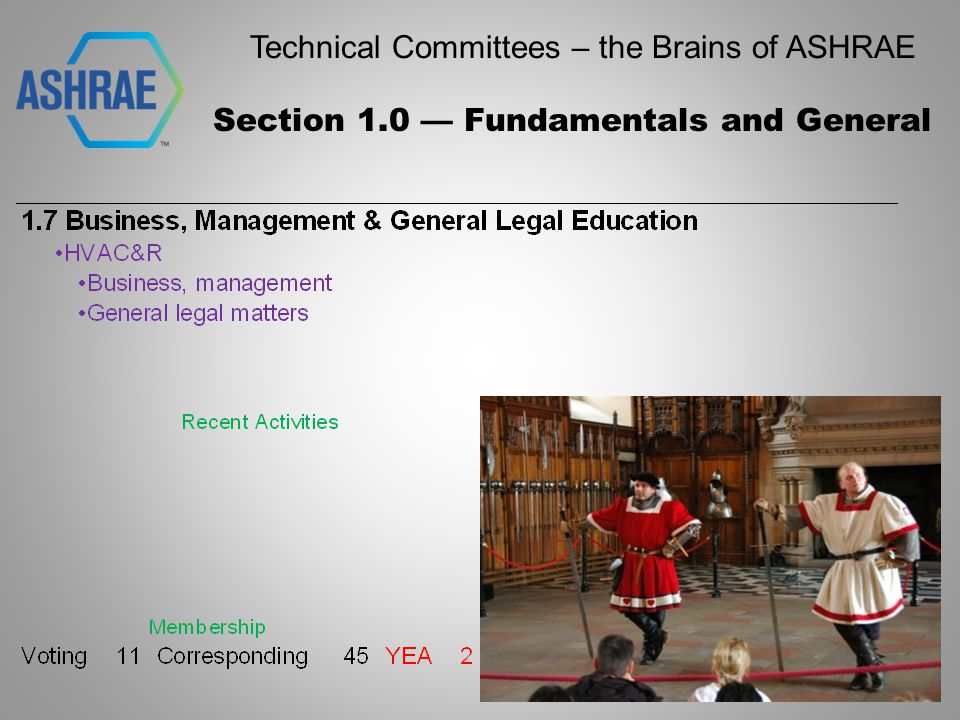 Technical Committees – the Brains of ASHRAE Section 8 – Air-Conditioning and Refrigeration System Components