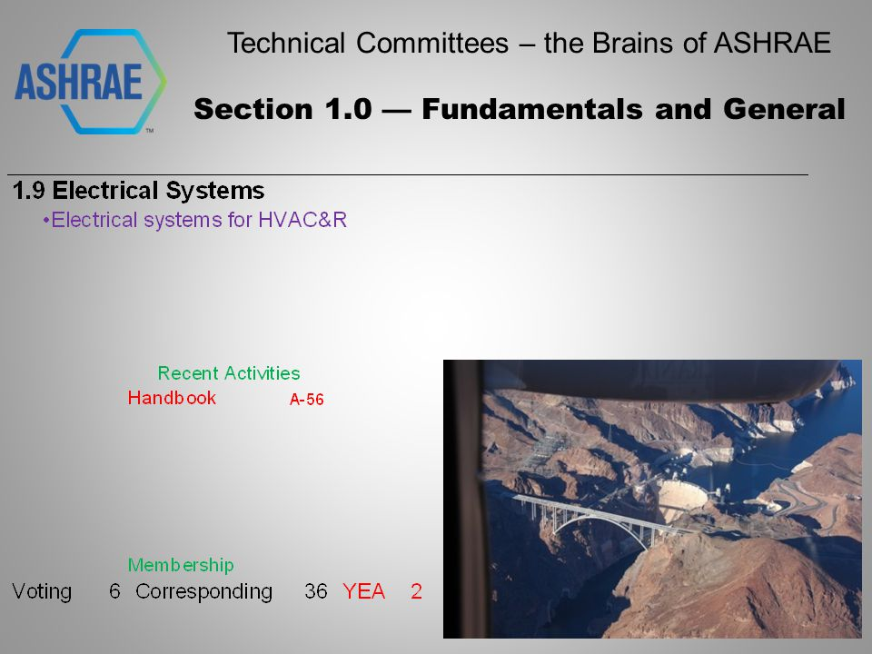 Technical Committees – the Brains of ASHRAE Section 1.0 — Fundamentals and General