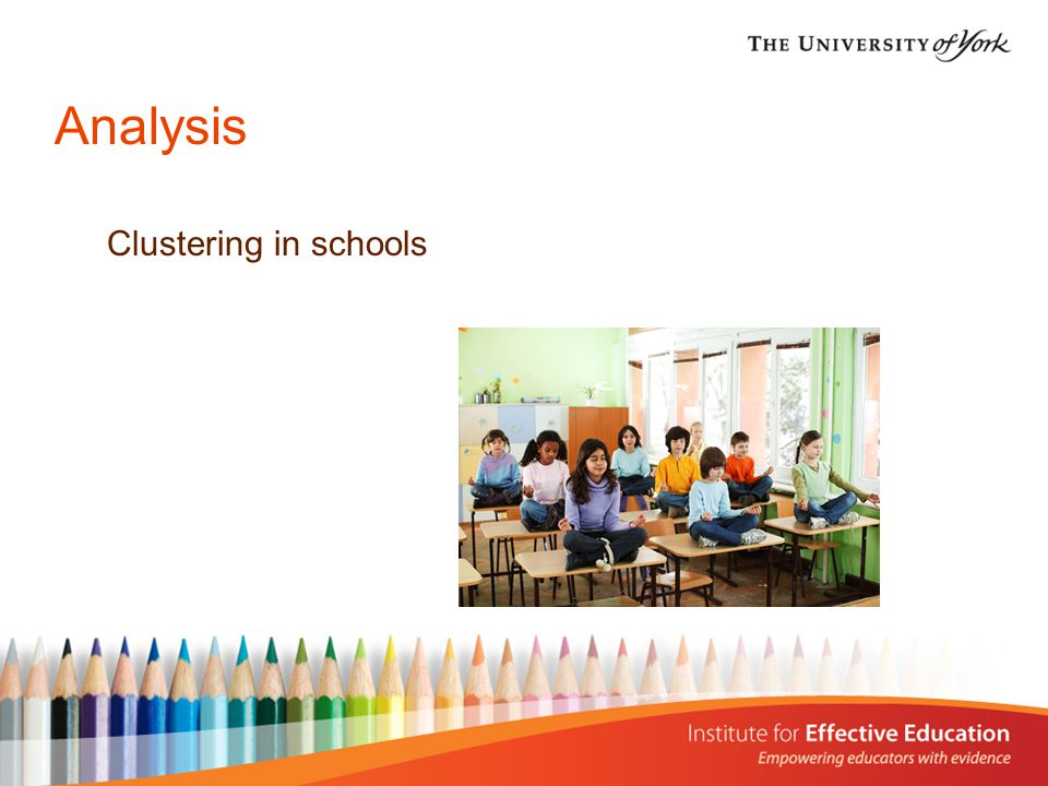 Analysis Clustering in schools