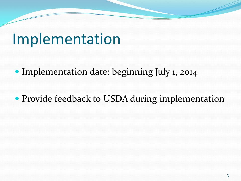 Foods of Minimal Nutritional Value Provisions related to Foods of Minimal Nutritional Value remain in place until the July 1, 2014 implementation date of the competitive food standards 44