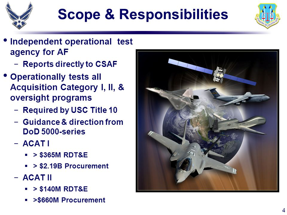 15 V&V Plan Accredit ACS for a specific purpose −Evaluate aspects of F-22 performance not obtainable in OAR −ACS provides test for score environment V&V each ACS element and ACS as a whole −Aircraft (F-22) −Digital Integrated Air Defense System (DIADS) −Blue and Red airborne players/threats −Real time surface to air missile (RTSAM) −Background (player density) −Environment (ECM, clutter, weather) −Endgame Separate plans…single report approved by Commander