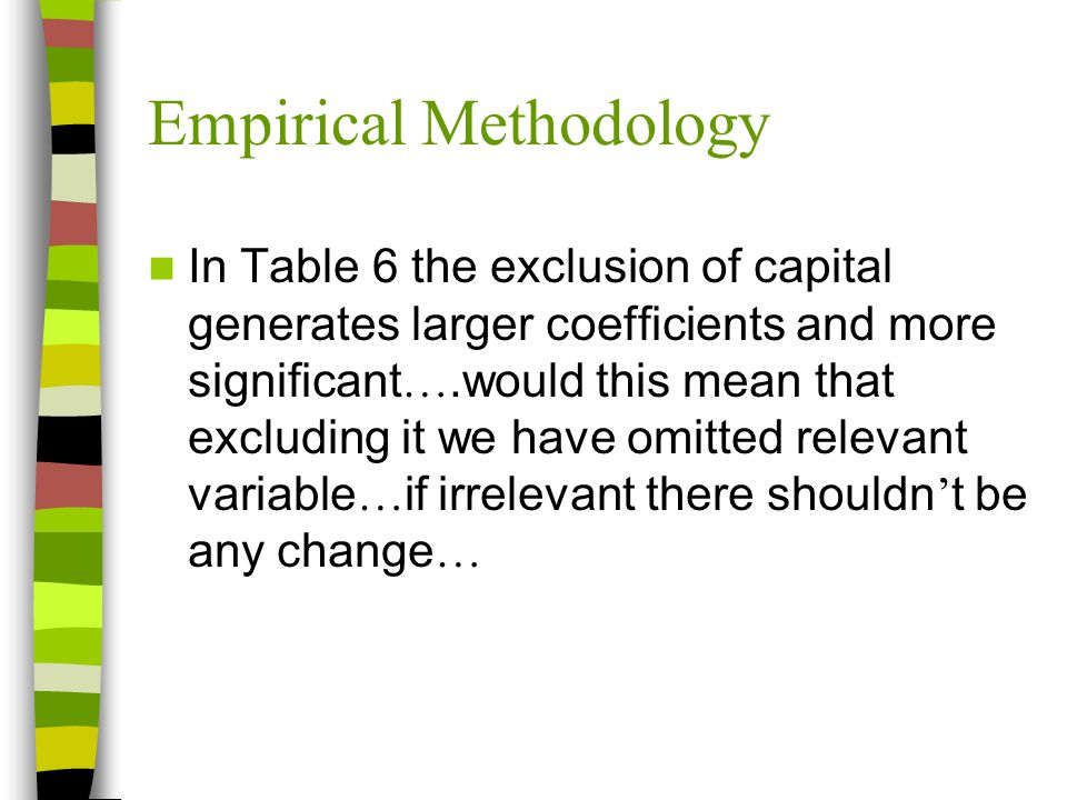 Empirical Methodology Instruments used, it seems that they predict just constant values for variables that change over time.