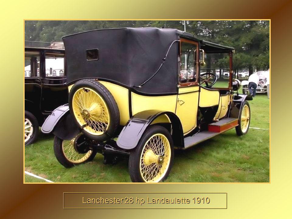 Lanchester 28 hp Landaulette 1910