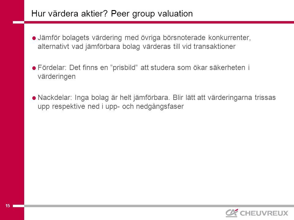 15 Hur värdera aktier.