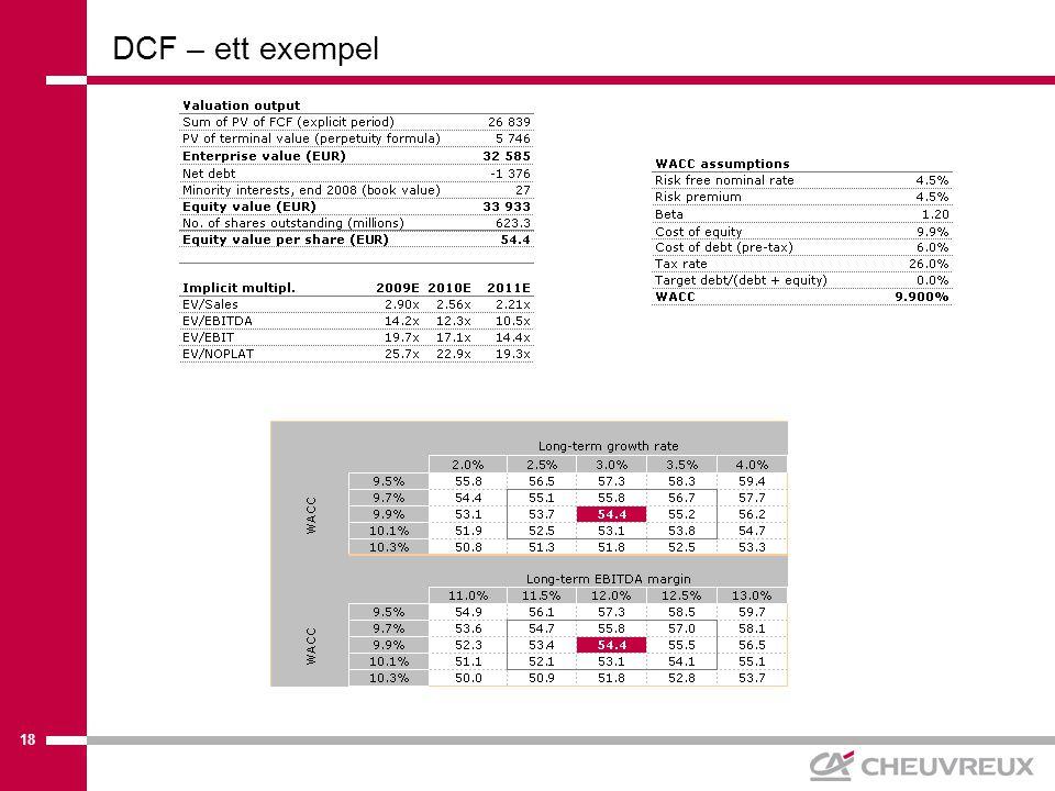18 DCF – ett exempel