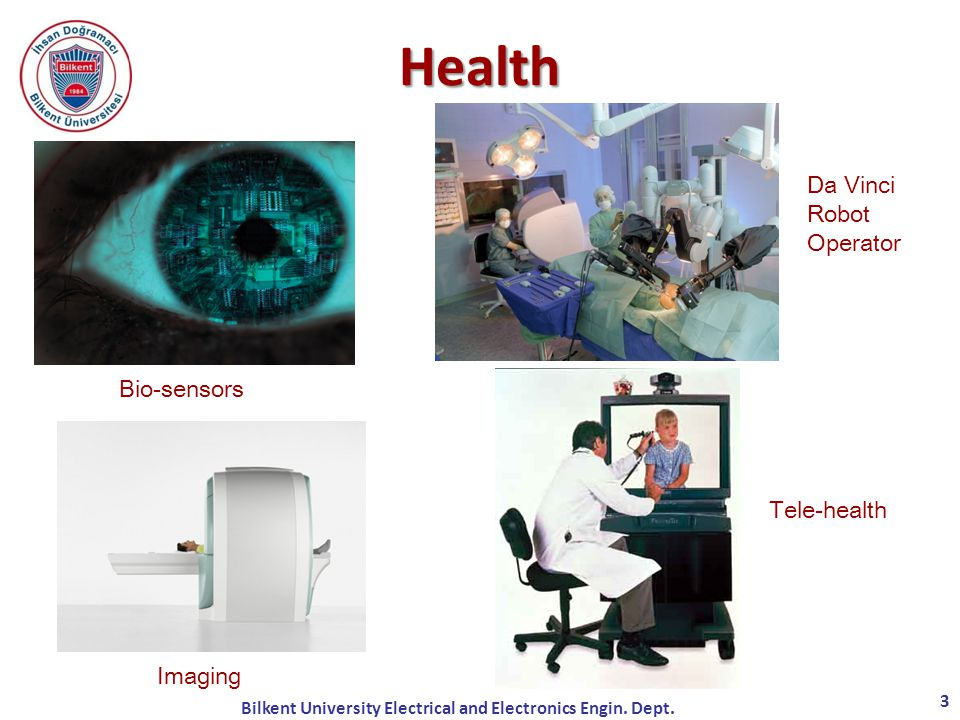 Da Vinci Robot Operator Bio-sensors Imaging Tele-health Health 3 Bilkent University Electrical and Electronics Engin.