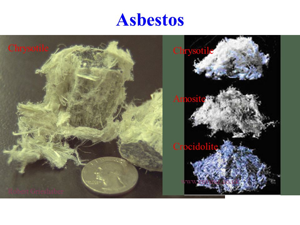 Asbestos Robert Grieshaber Chrysotile Amosite Crocidolite Chrysotile www.enviraz.co.uk
