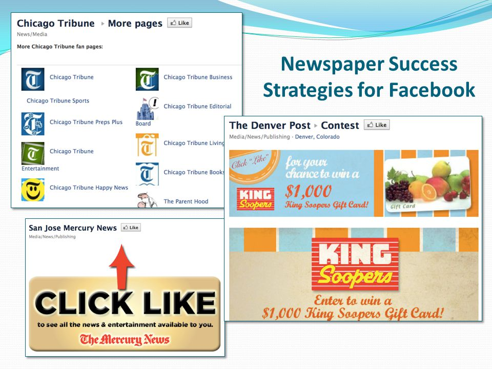 Newspaper Success Strategies for Facebook