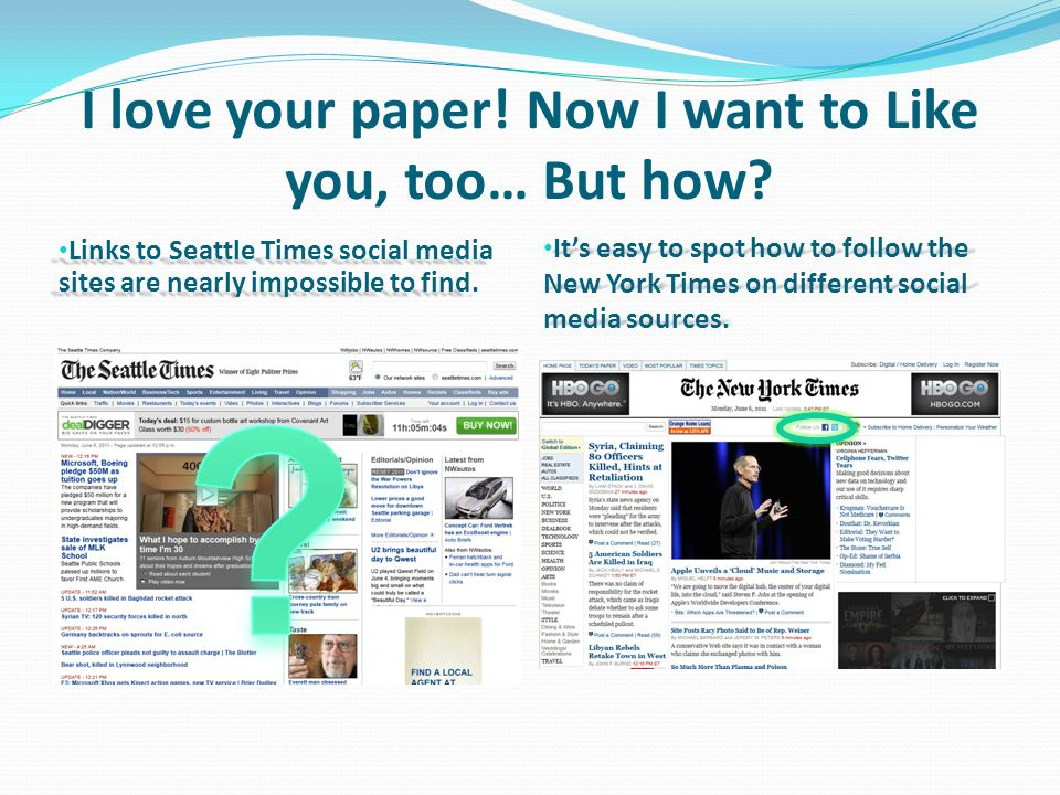I love your paper. Now I want to Like you, too… But how.