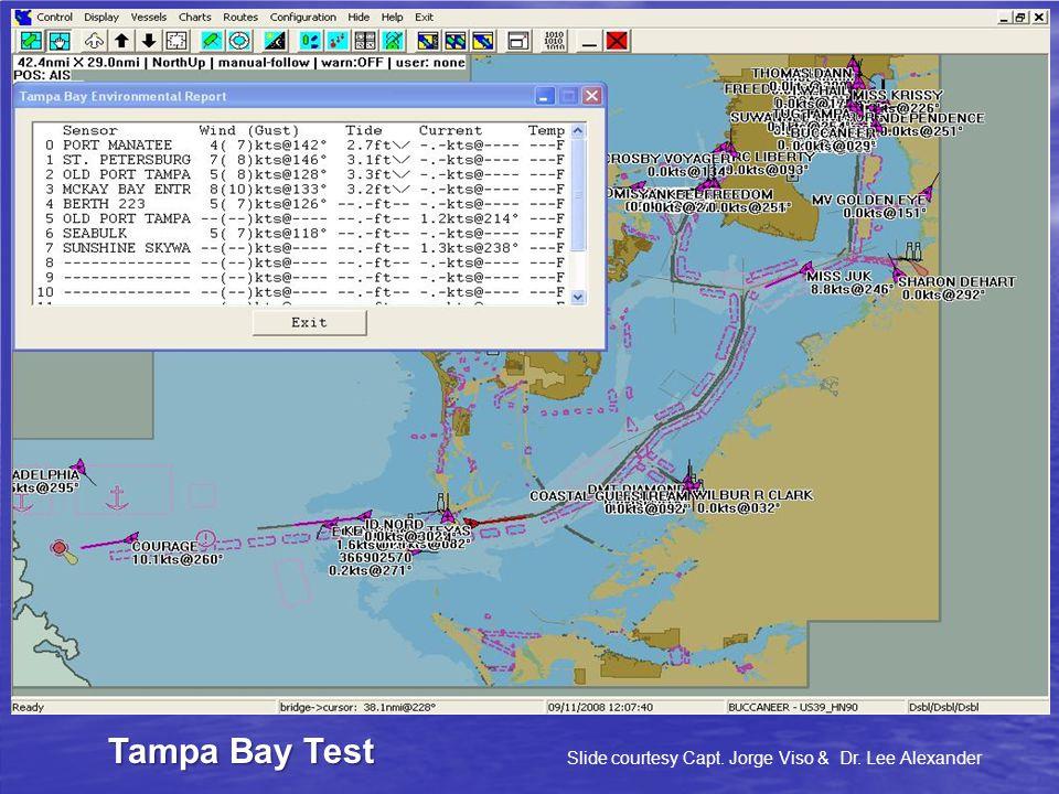 Tampa Bay Test Slide courtesy Capt. Jorge Viso & Dr. Lee Alexander