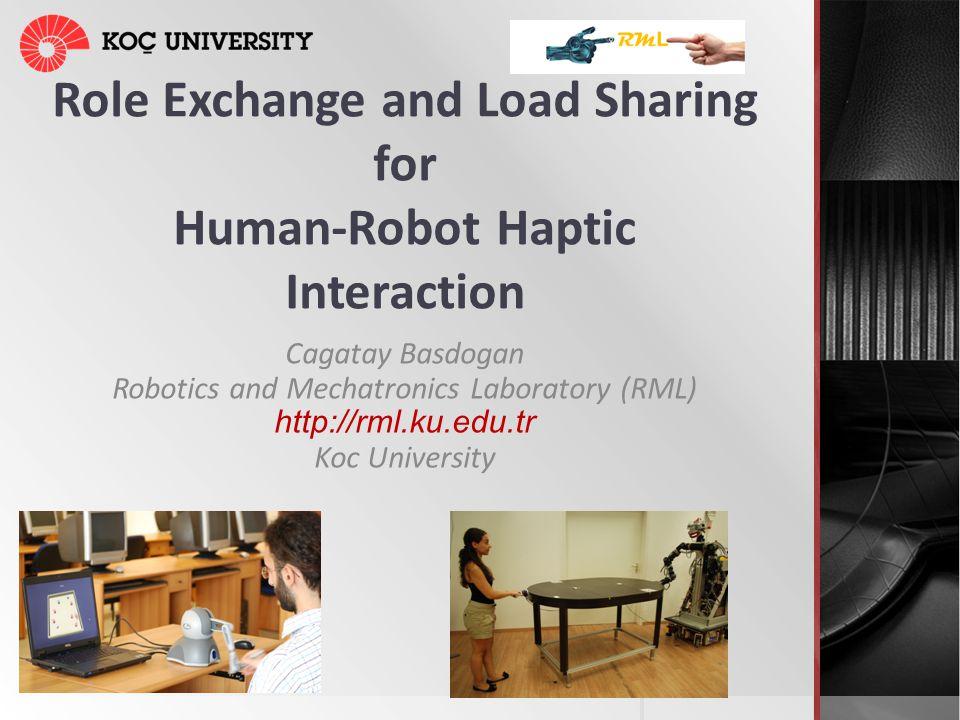 Role Exchange and Load Sharing for Human-Robot Haptic Interaction Cagatay Basdogan Robotics and Mechatronics Laboratory (RML) http://rml.ku.edu.tr Koc
