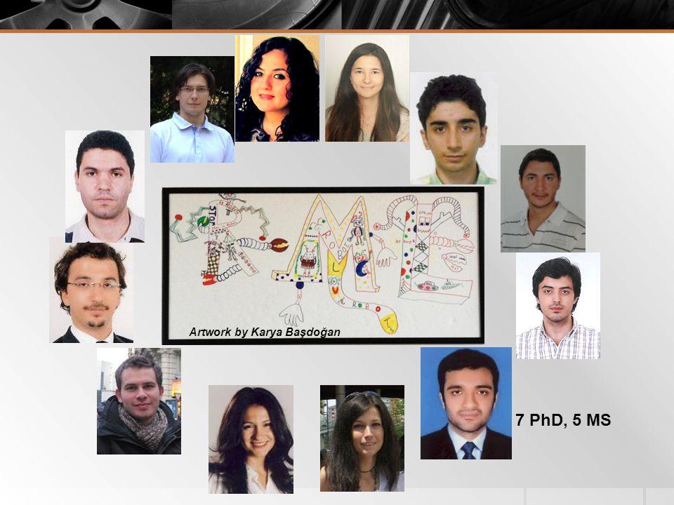 7 PhD, 5 MS Artwork by Karya Başdoğan