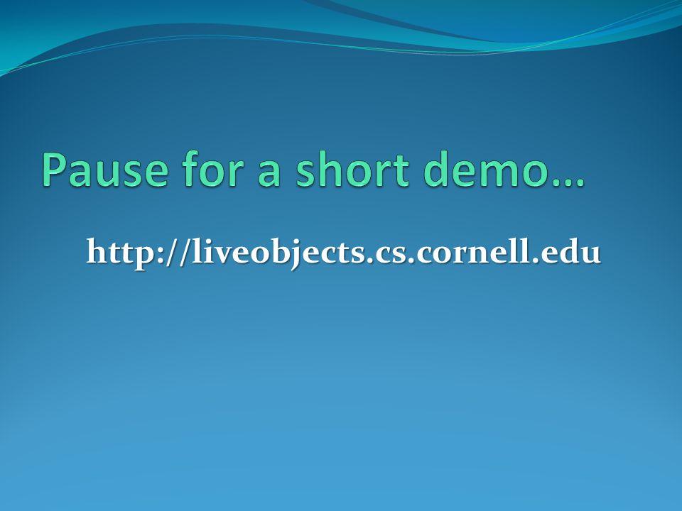 http://liveobjects.cs.cornell.edu