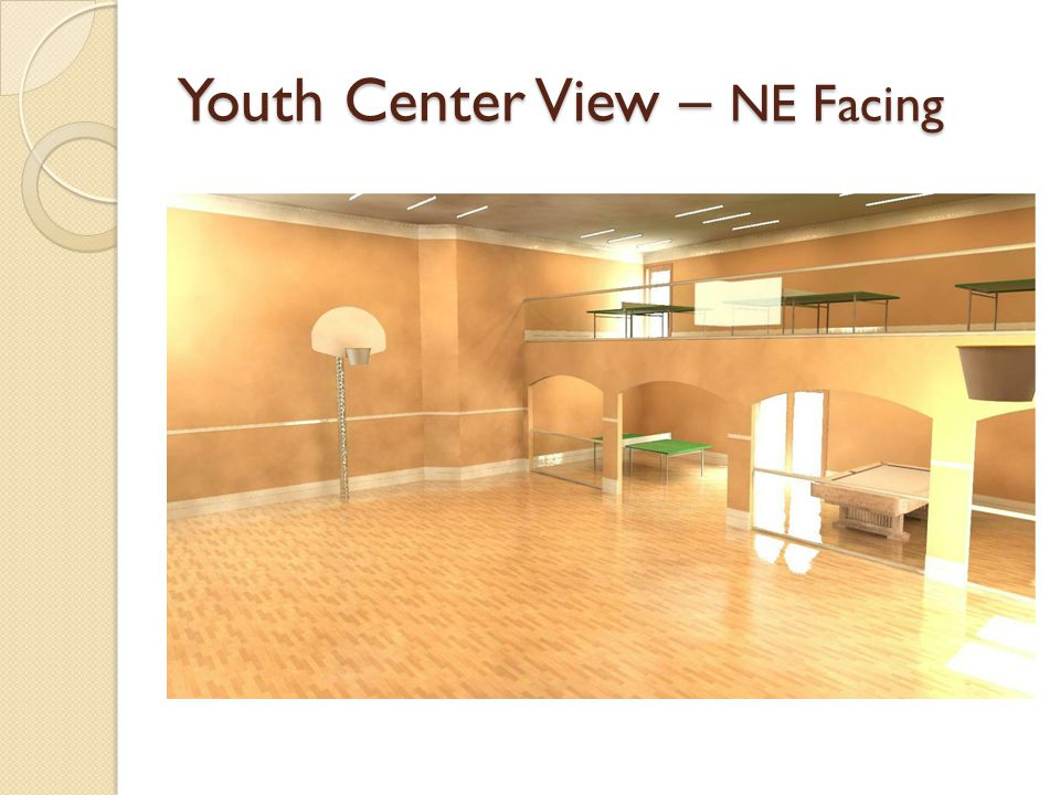 Youth Center View – NE Facing