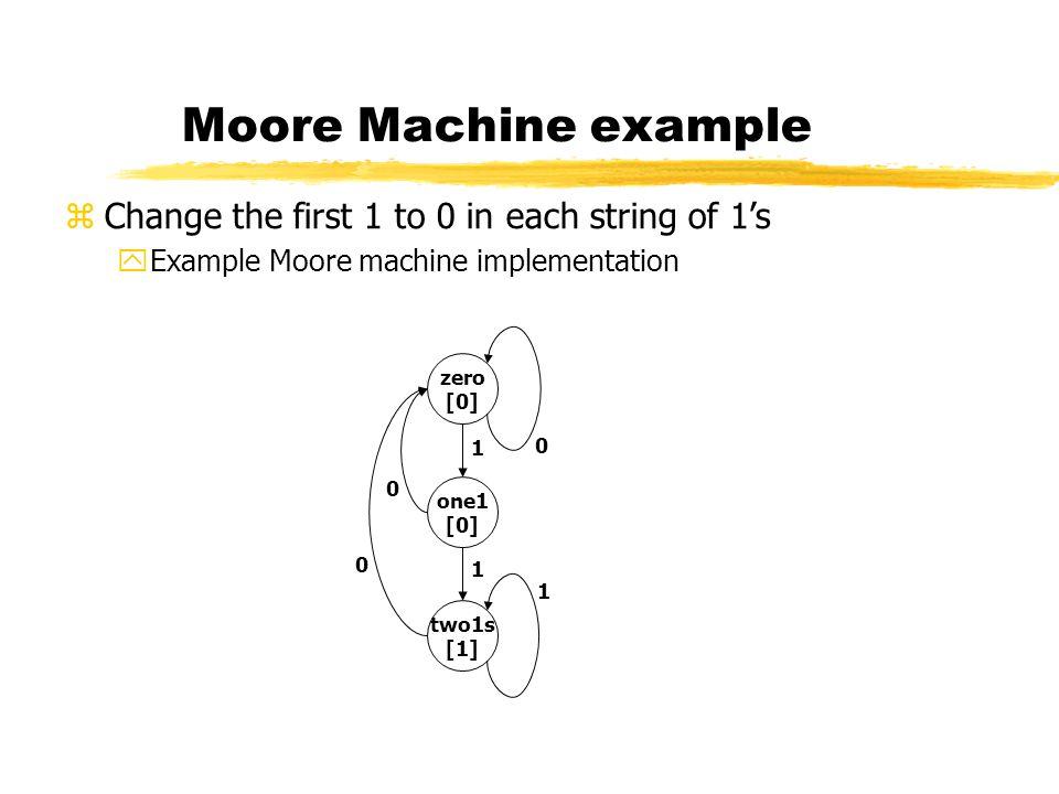 Verilog code for Moore..