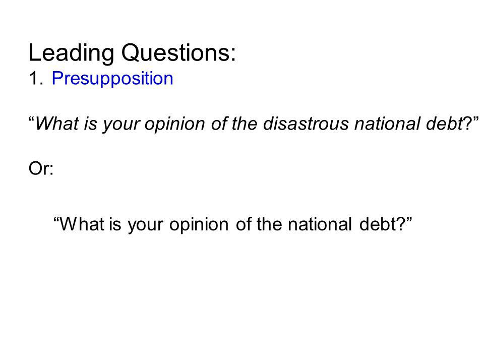 Leading Questions: 1.
