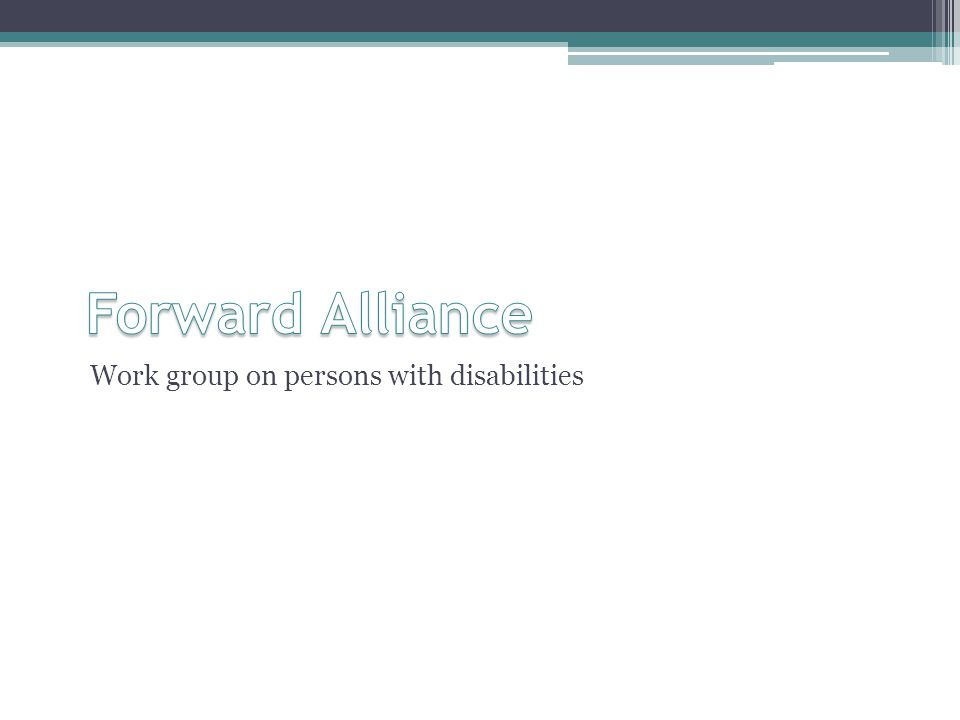 Work group on persons with disabilities