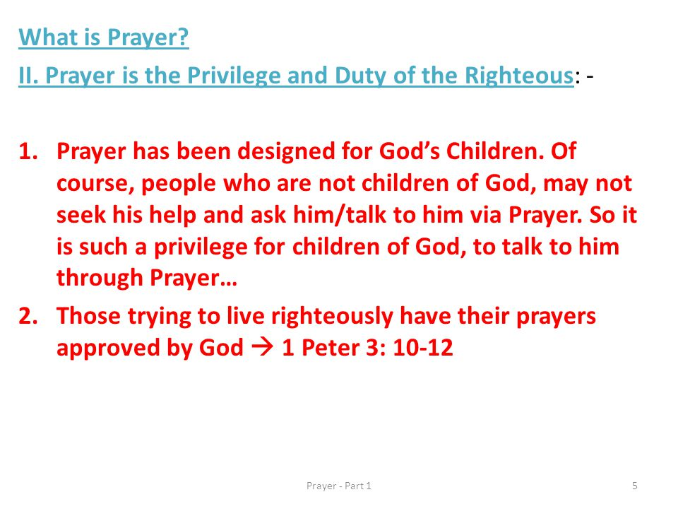 What is Prayer. II.