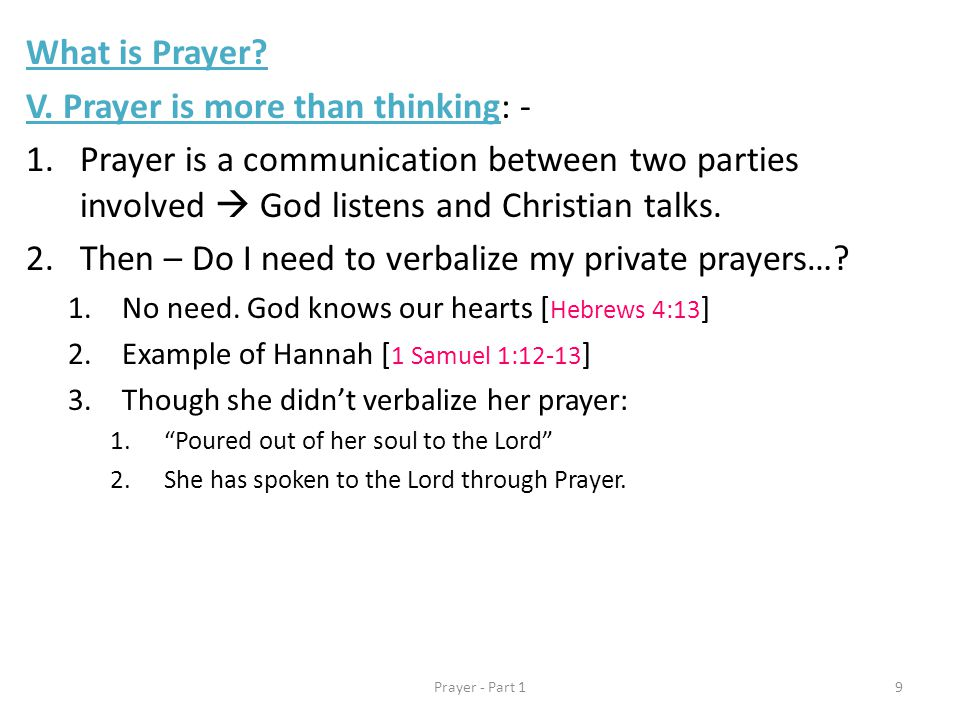 What is Prayer. V.